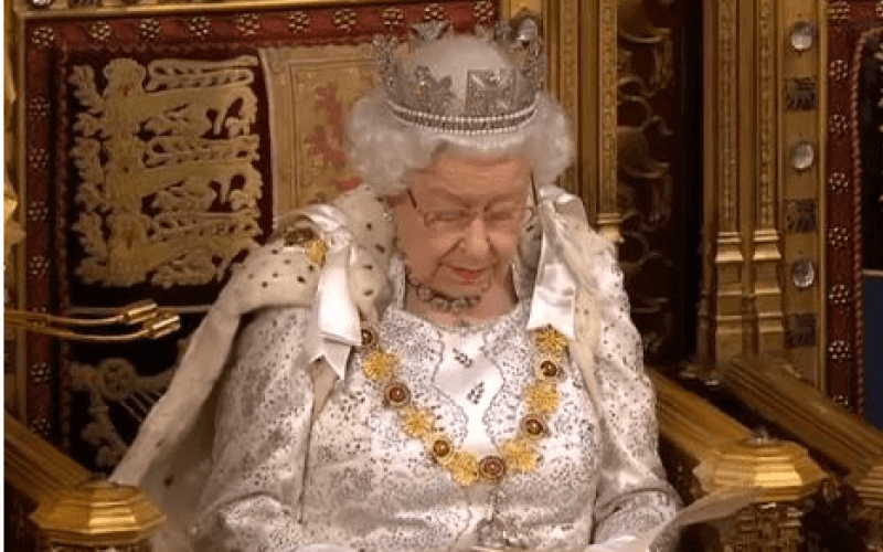 The Queen, in the House of Lords