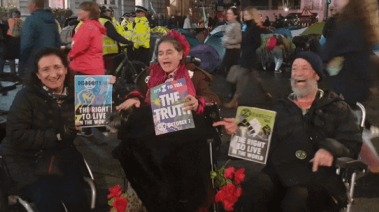 Anger as police confiscate Extinction Rebellion accessible toilets, ramps and wheelchairs