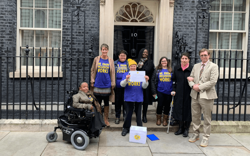 Group of people outside No 10