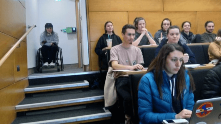 University leaves disabled student segregated at the back of lectures