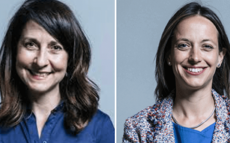 Liz Kendall and Helen Whately, both head and shoulders