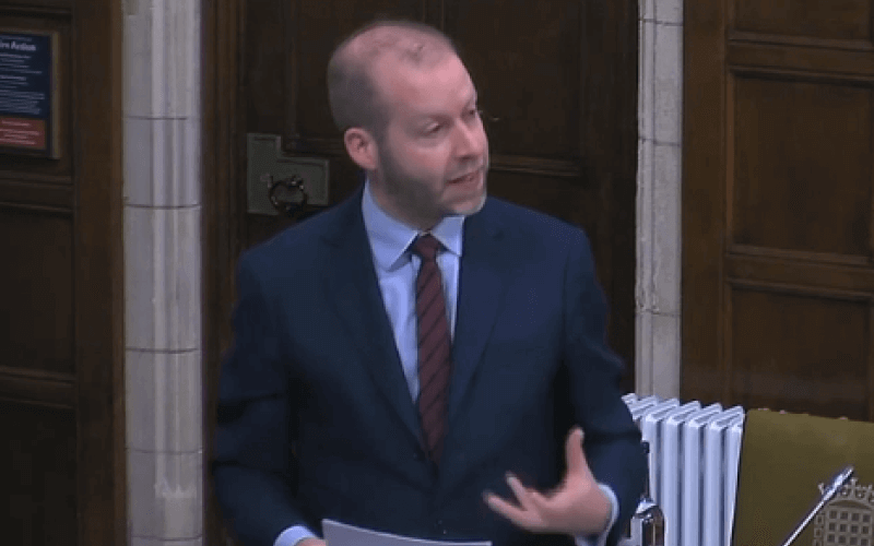 Jonathan Reynolds speaking in parliament