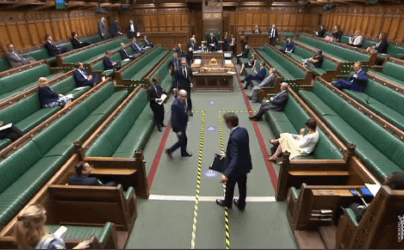 The Commons chamber on 3 June 2020