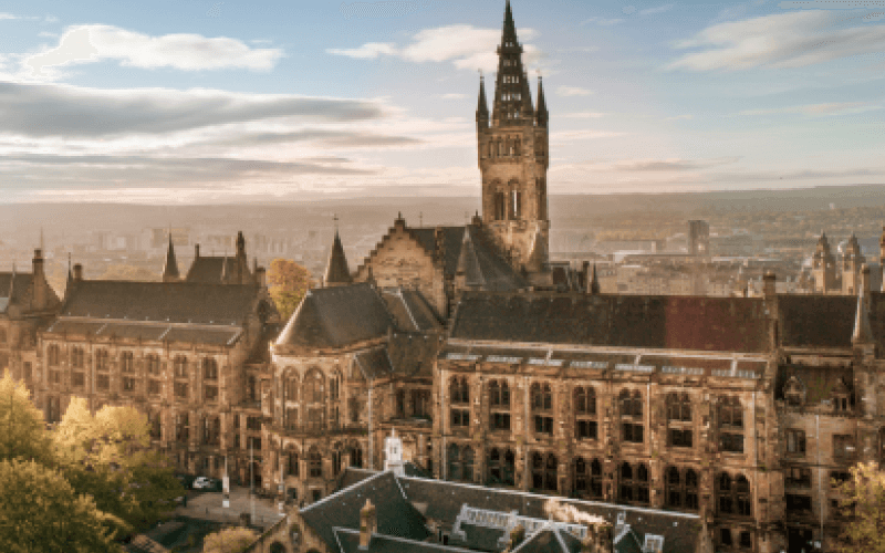 Glasgow University from the air