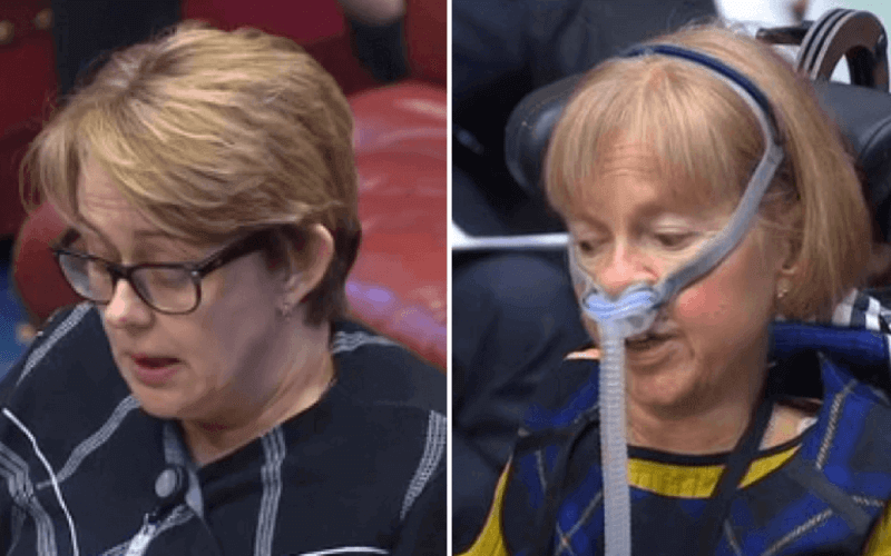Baroness Grey-Thompson and Baroness Campbell, in separate head and shoulders pictures