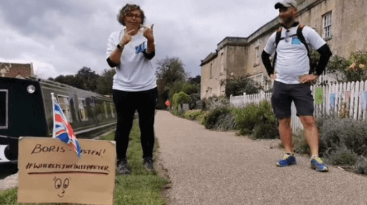 Deaf activists on 200-mile trek to bring 'Where's the Interpreter?' message to 'callous' PM