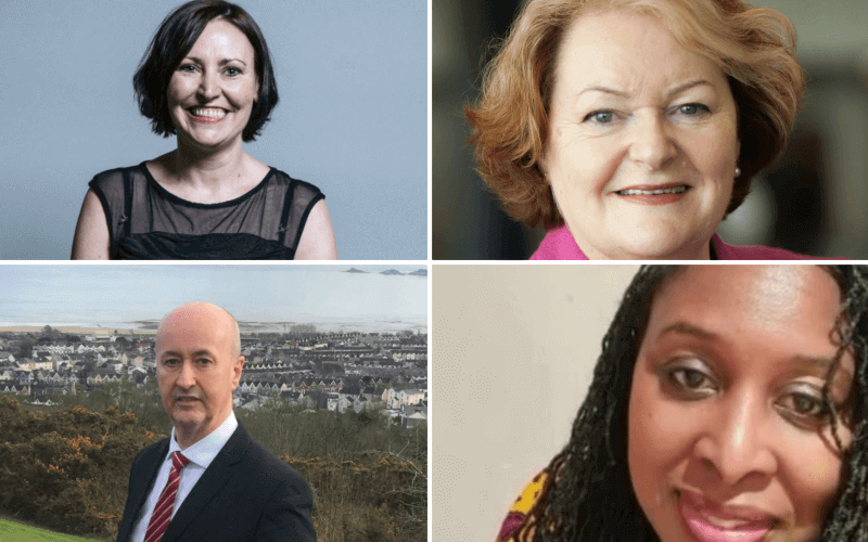 Head and shoulders of Vicky Foxcroft, Dawn Butler, Philippa Whitford and Geraint Davies