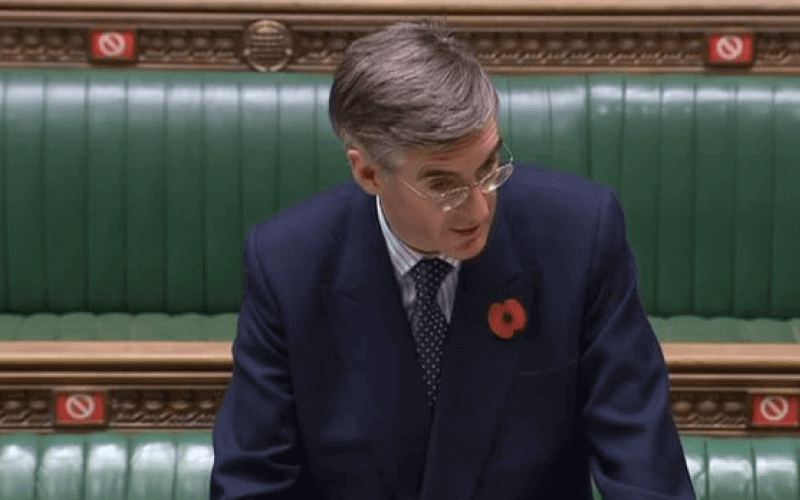 Jacob Rees-Mogg speaking in the House of Commons