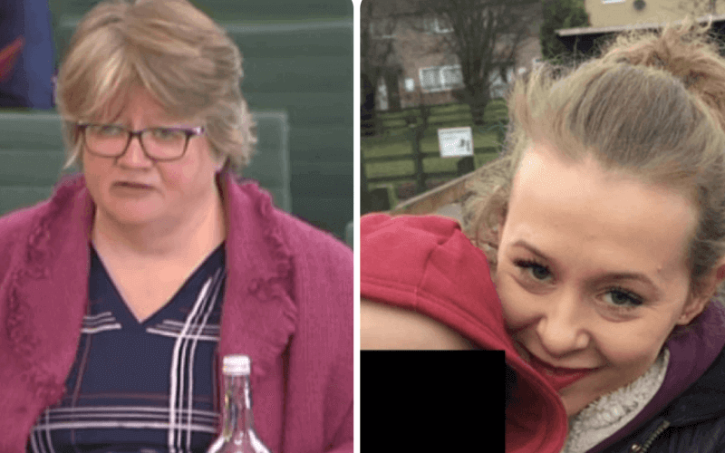 Therese Coffey and Philippa Day, separate head and shoulders