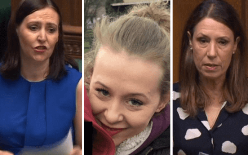 Separate head and shoulders pictures of Vicky Foxcroft Philippa Day and Debbie Abrahams