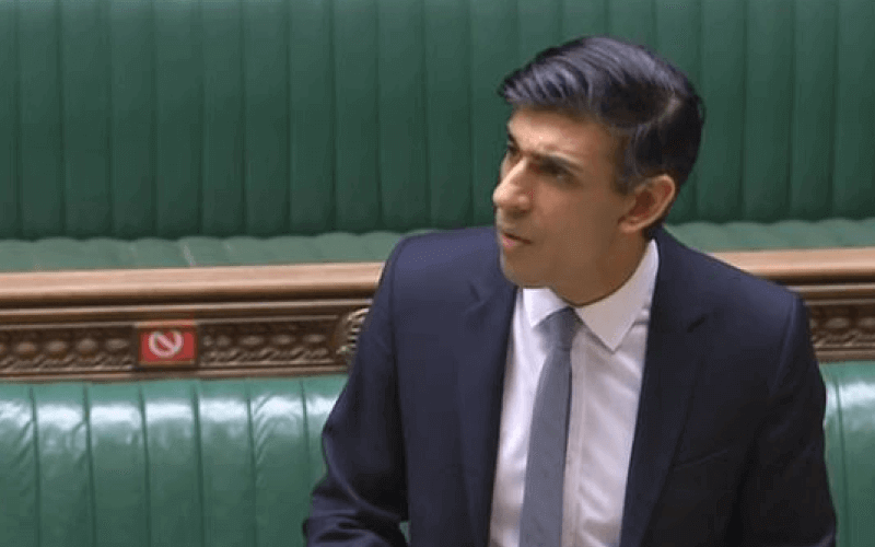 Rishi Sunak speaking in the House of Commons