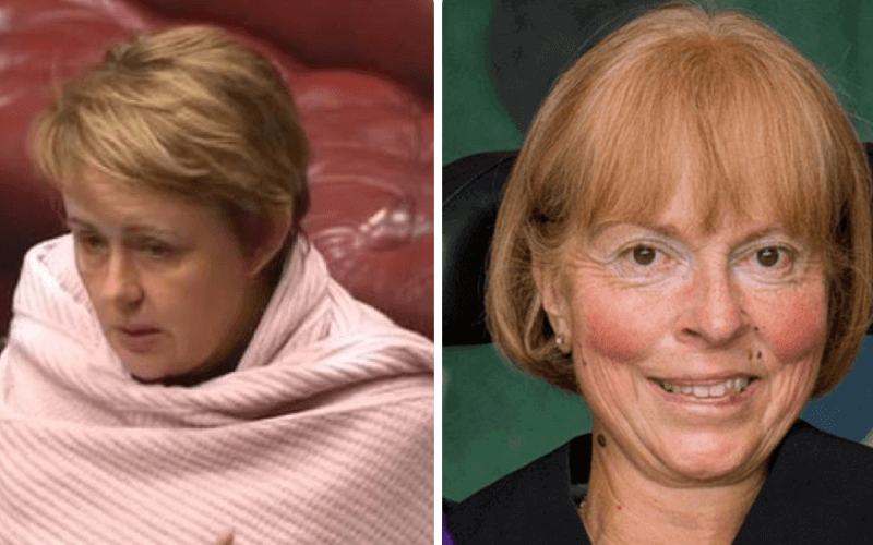 Separate head and shoulder pictures of Baroness Grey-Thompson and Baroness Campbell