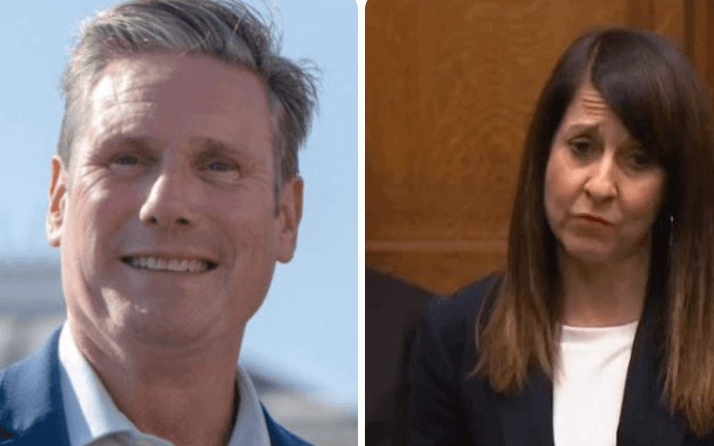Separate head and shoulder pictures of Keir Starmer and Liz Kendall