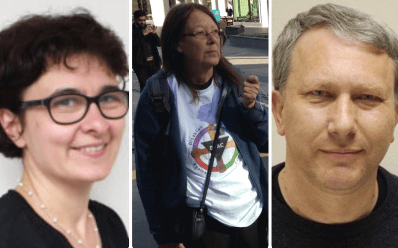Separate head and shoulders pictures of Svetlana Kotova, Linda Burnip and Peter Beresford