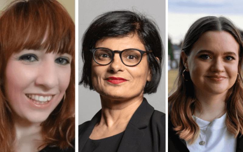 Head and shoulder pictures of Rachel O'Brien, Thangam Debbonaire and Ellen Morrison