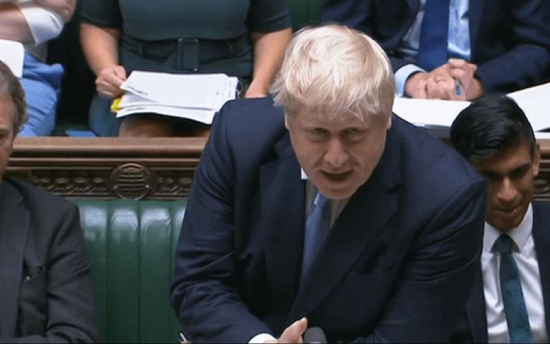 Boris Johnson speaking in the House of Commons