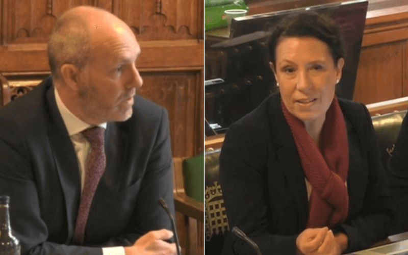 Separate head and shoulders of Justin Tomlinson and Debbie Abrahams