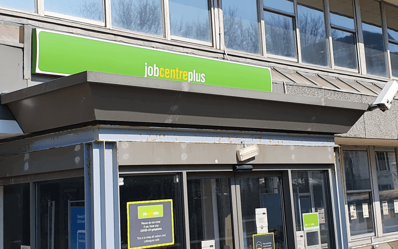 The outside of a jobcentre