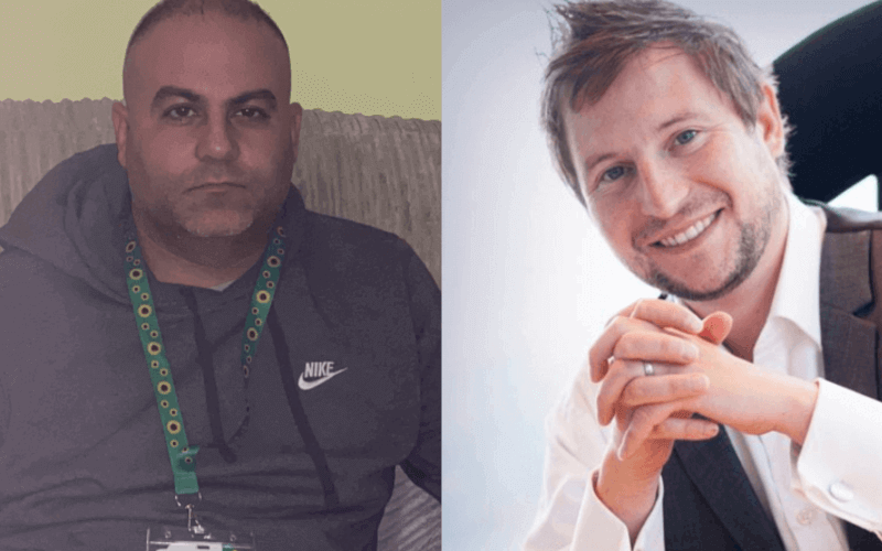 Separate head and shoulders of Marco Naayem and Chris Fry